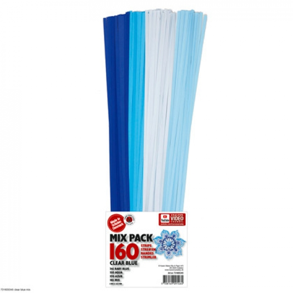 Mix Str. 5x450mm clear blue 160 St. Pape