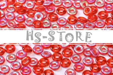 O-Beads 2x4mm Red AB 5gr.
