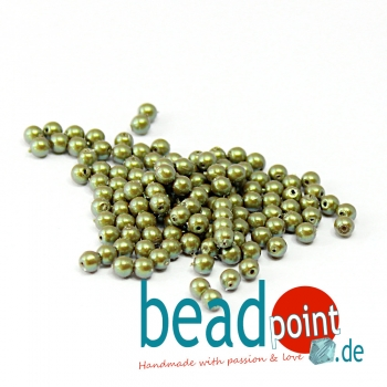 Pearl Shell 3 mm Moss  150 St