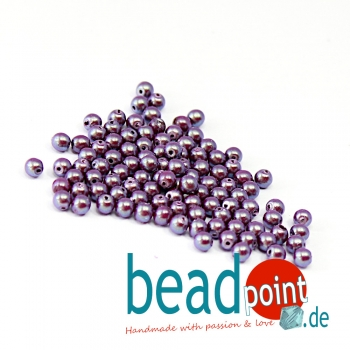 Pearl Shell 3 mm Grape Satin  150 St