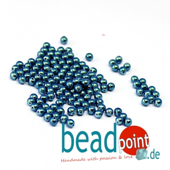 Pearl Shell 3 mm Dusk Blue  150 St