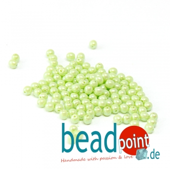 Pearl Shell 3 mm Mint Green  150 St