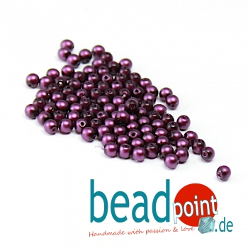 Matted 3 mm Grape Satin  150 St