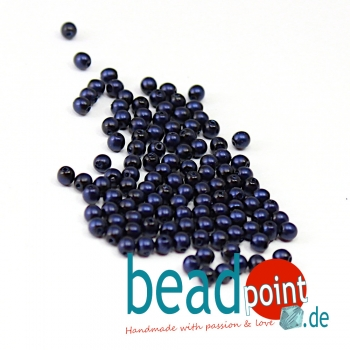 Matted 3 mm Midnight Blue Satin  150 St