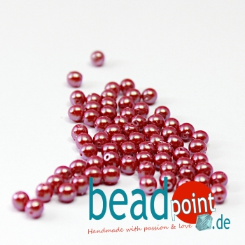 Pearl Shell 4 mm Cranberry  120 St