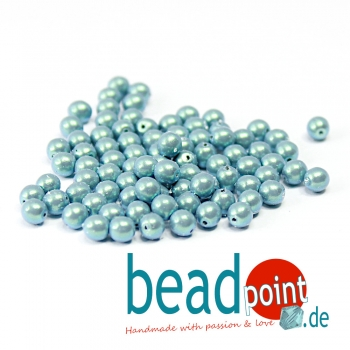 Pearl Shell 4 mm Silver Blue  120 St