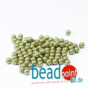 Pearl Shell 4 mm Moss  120 St