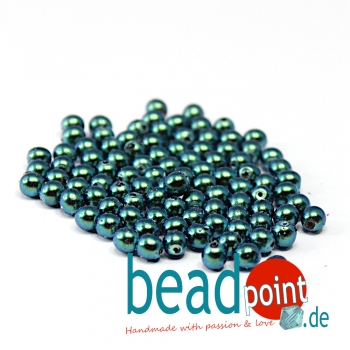 Pearl Shell 4 mm Dark Teal  120 St