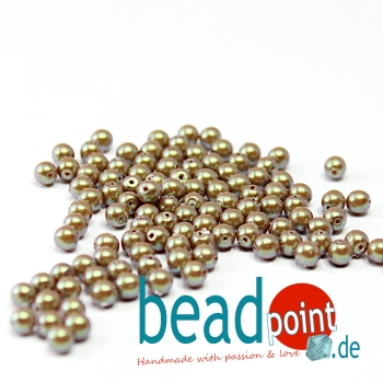 Pearl Shell 4 mm Topaz  120 St