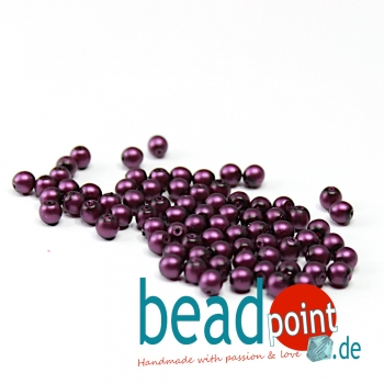Matted 4 mm Grape Satin  120 St