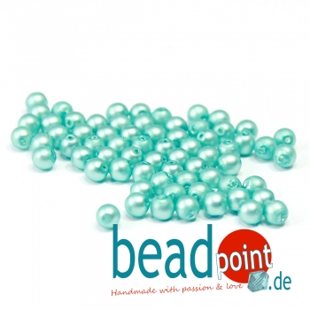 Matted 4 mm Turquoise Satin  120 St
