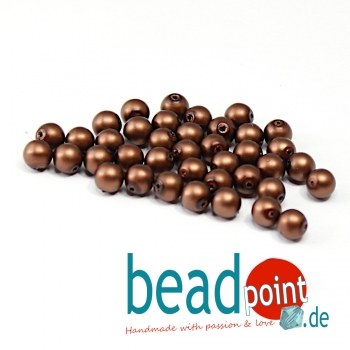 Matted 6 mm Brown Satin  50 St