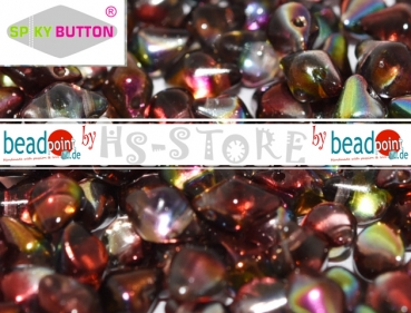 Spiky Button 4,5x6,5mm crystal magic wine 50 stk.