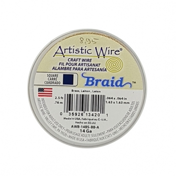 14GA Braid SQ BPH Bronze 2.5Ft