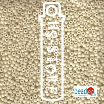 11/0 SEED BEAD-APRX 23 GM MATTE OPAQUE CREAM