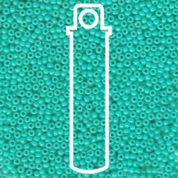 11/0 SEED BEAD-APRX 23GMS OPAQUE TURQUOISE GREEN
