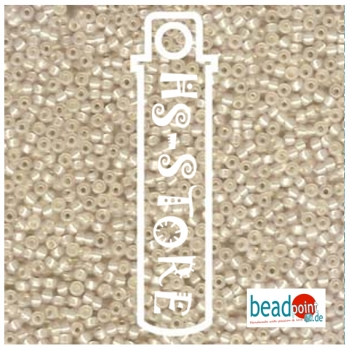 11/0 SEED BEAD-APRX 23GMS BUTTERCREAM COLOR LINED