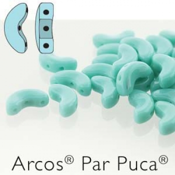 Arcos 5x10mm opaque green turquoise 7gr