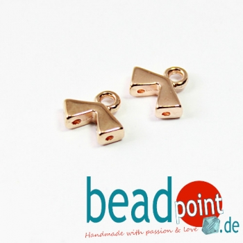 AGALI II-KITE BEAD ENDING ROSE GOLD PLATE 2 pcs