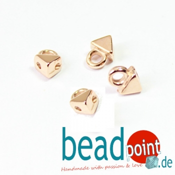 AGALI-KITE BEAD ENDING ROSE GOLD PLATE 4 pcs