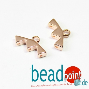AGALI III-KITE ENDING ROSE GOLD PLATE 2pcs