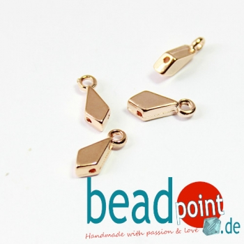 LIVADAKI-KITE ENDING ROSE GOLD PLATE 4pcs