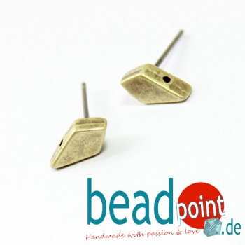 LATINAKI-KITE EARRING ANT. BRASS PLATE 2pcs