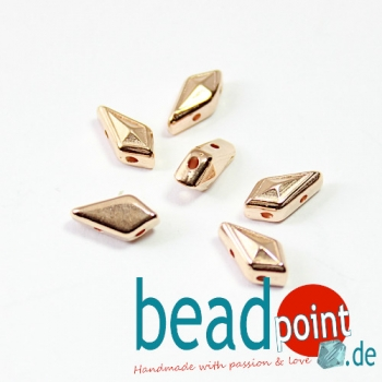 KATERGO-KITE BEAD SUB ROSE GOLD PLATE 6pcs