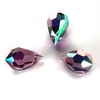 M.C. DROP 9x15mm light amethyst AB 3 PCS