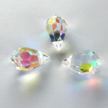 M.C. DROP 9x15mm crystal AB 3 PCS