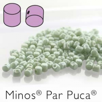 Minos 2,5x3mm opaque lt. green luster 7gr