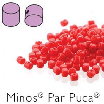 Minos 2,5x3mm opaque coral red 7gr