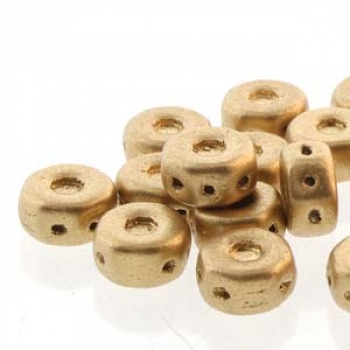 OCTO 8X4MM 3HL COIN BRONZE PALE GOLD PALE GOLD 25PC