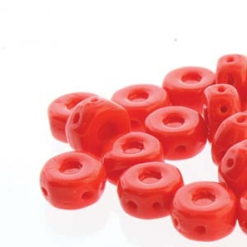 OCTO 8X4MM 3HL COIN RED OPAQUE 25 PC