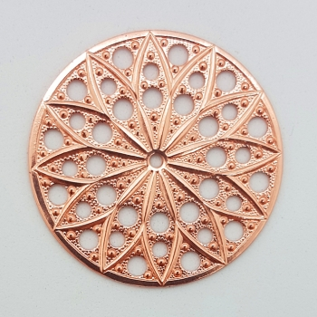 Filigree rund 30mm Copper