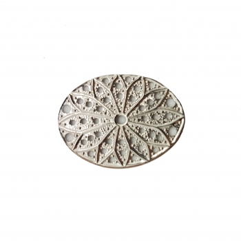 Filigree oval  20x27mm rhodium silber