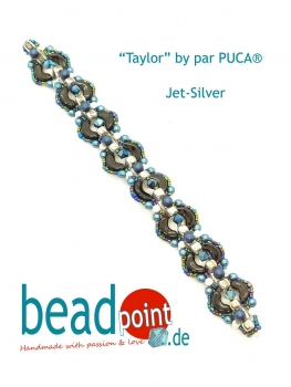 Armband Taylor by par PUCA®, Jet-Silver no. 5703