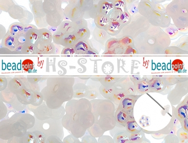 Forget Me Not Flower Beads 5mm alabaster AB 75 pcs