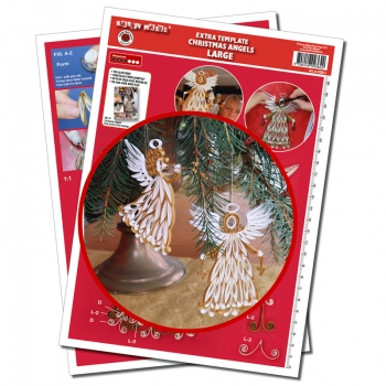 Christmas Angels Large Extra Template