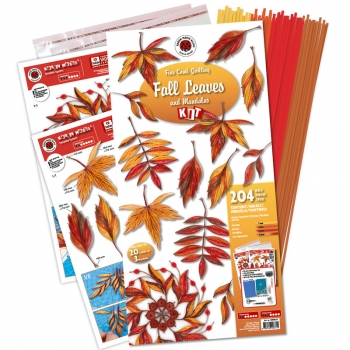 Fall Leaves & Mandala Quilling Kit