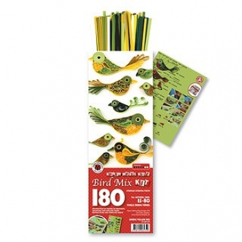Bird Mix  Kit Green/Yellow 180 St. Paper St./Pcs 120g