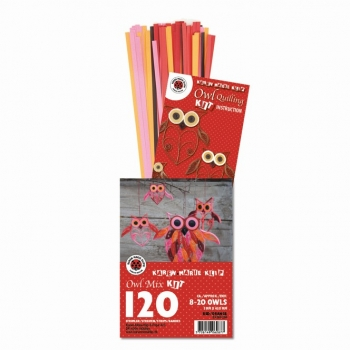 Owl Mix Kit Red/Orange 120 St. Paper St./Pcs 120g