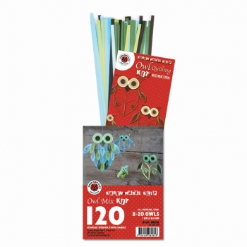Owl Mix Kit Blue/Green 120 St. Paper St./Pcs 120g