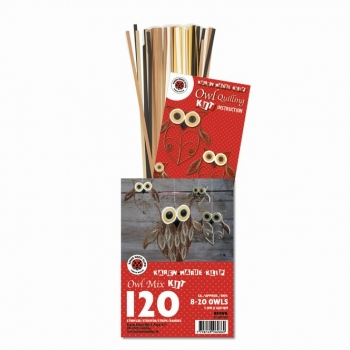 Owl Mix Kit Brown 120 St. Paper St./Pcs 120g