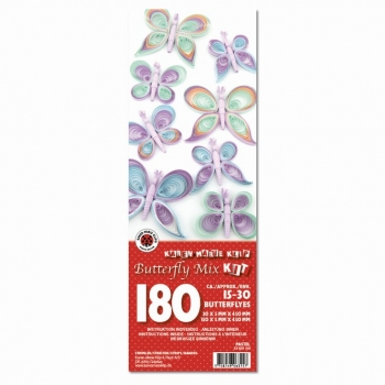 Butterfly Mix Kit Pastel 180 St. Paper St./Pcs 120g