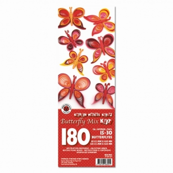 Butterfly Mix Kit Red 180 St. Paper St./Pcs 120g