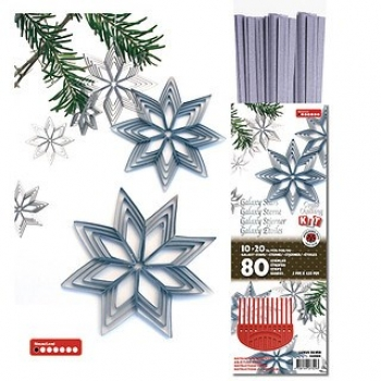 Str. 5 x450 mm Lalaxy stars silver 80 St. /Pcs.