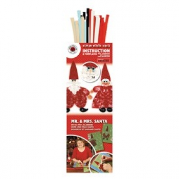 Quilling Kit Mr. & Mrs. Santa  160 Paper ST./Pcs 115/120 g