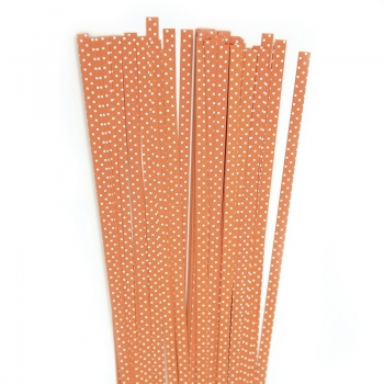 Str. 5 x 450 mm orange/white dots  80 St. /Pcs.