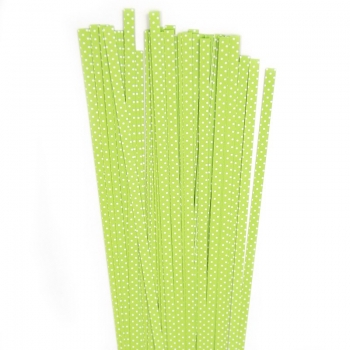 Str. 5 x 450 mm lime/white dots  80 St. /Pcs.